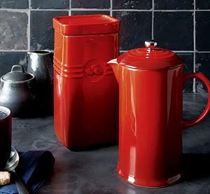 Le Creuset ® Cherry Red Coffee Storage Jar