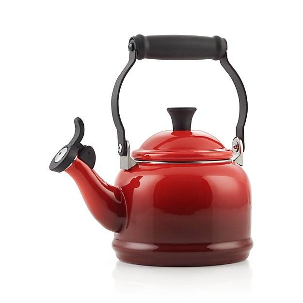 Red Tea Kettle ~ Le creuset qt demi cerise red tea kettle crate