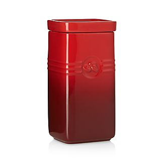 Le Creuset ® Cerise Red Coffee Storage Jar