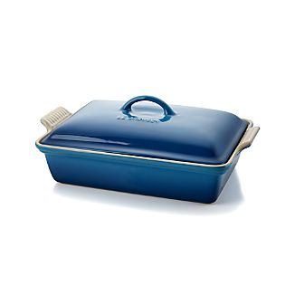 Le Creuset ® Heritage Covered Rectangle Marseille Blue Baking Dish