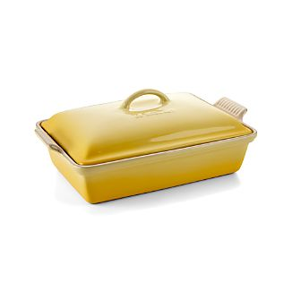 Le Creuset ® Heritage Covered Rectangular Soleil Yellow Baking Dish