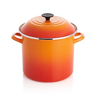 Le Creuset ® 10-qt. Flame Enamel Stock Pot with Lid