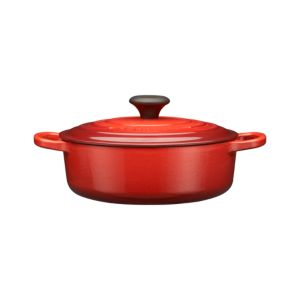 Le Creuset® Wide Round Cherry 3.5 Quart French Oven with Lid
