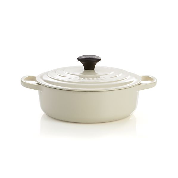 Le Creuset ® Signature 3.5 qt. Wide Round Cream French Oven with Lid