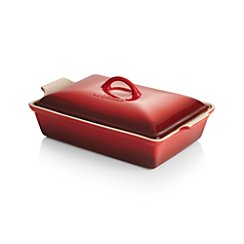 Le Creuset ® Heritage Covered Rectangle Cherry Red Baking Dish