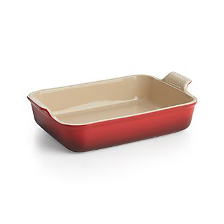 Le Creuset Heritage Rectangle Cherry Red Dish Cherry
