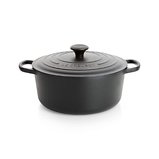 Le Creuset ® Signature 7.25-Qt. Round Licorice French Oven with Lid