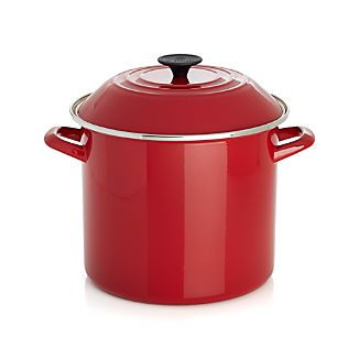 Le Creuset ® 10 qt. Red Enamel Stock Pot with Lid