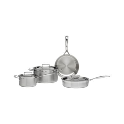 Le Creuset�� Tri-Ply Stainless Steel 7-Piece Cookware Set