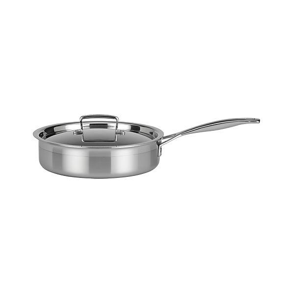 Le Creuset ® 3 qt. Stainless Steel Sauté Pan with Lid