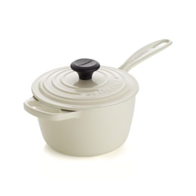 Le Creuset® 1.75 qt. Cream Saucepan with Lid