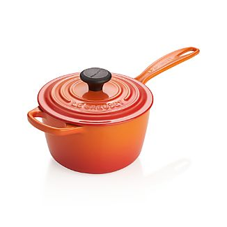 Le Creuset ® Signature 1.75-qt. Flame Saucepan with Lid