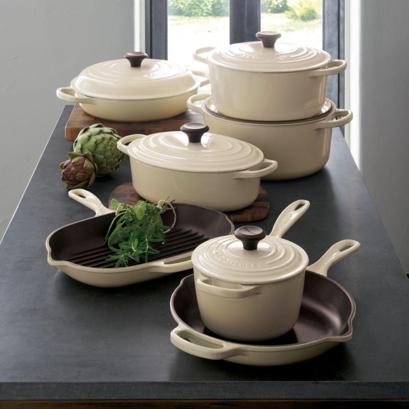 Le creuset cream everyday pan
