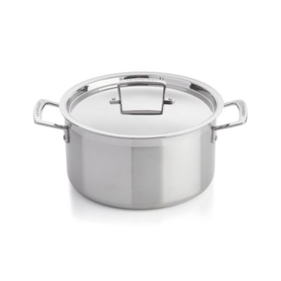 Le Creuset® Stainless Steel 6.4 qt. Stock Pot with Lid
