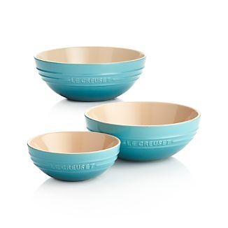 Le Creuset ® Caribbean Blue Ceramic Multi Bowls