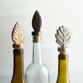 Leaf Bottle Stoppers Set of Three