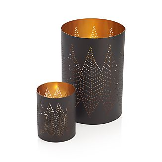 Leaf Large Hurricane Pillar Candle Holder