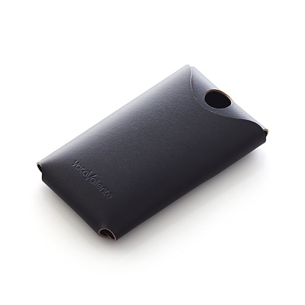 Black Leather Phone Cover