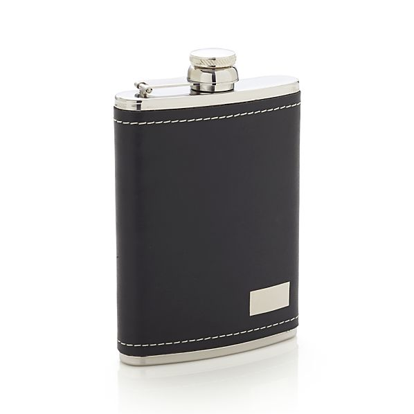 Leather and Stainless Steel Flask