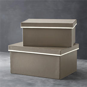 Tanner Storage Boxes Set of Two - Set of two...
