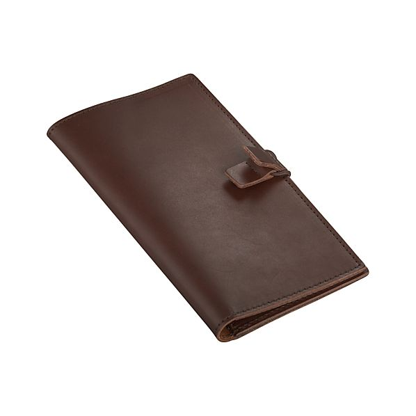 Chocolate Leather Travel Wallet
