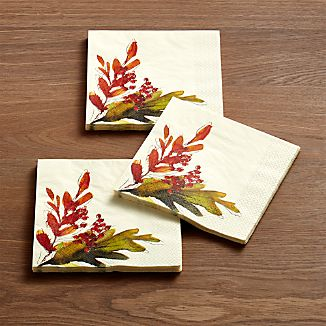 Leaves Paper Lunch Napkins Set of 20