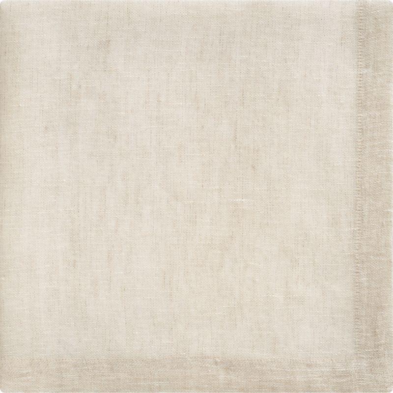 Natural linen napkin coordinates with any and every table setting.<br /><br /><NEWTAG/><ul><li>100% linen</li><li>Machine wash; dry flat, warm iron as needed</li><li>Made in India</li></ul><br />