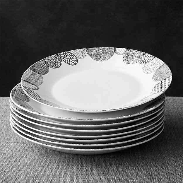 Rothman Furniture Store Set of 8 Leif Dinner Plates | Crate and Barrel