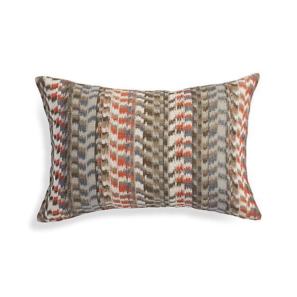 Orange Throw Pillows Crate And Barrel : Leilani Orange 22