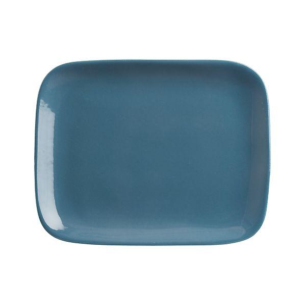 """Leone 10.75""""x8.5"""" Blue Plate"""