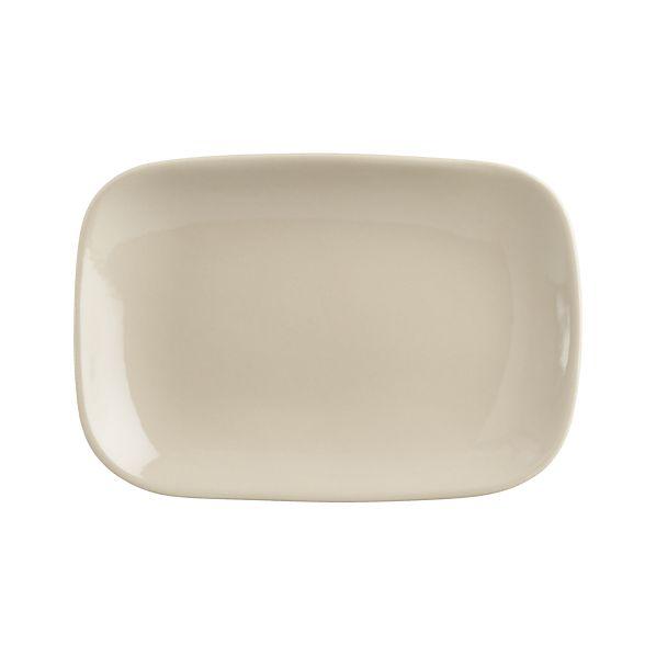"Leone 8""x5.5"" Grey Plate"