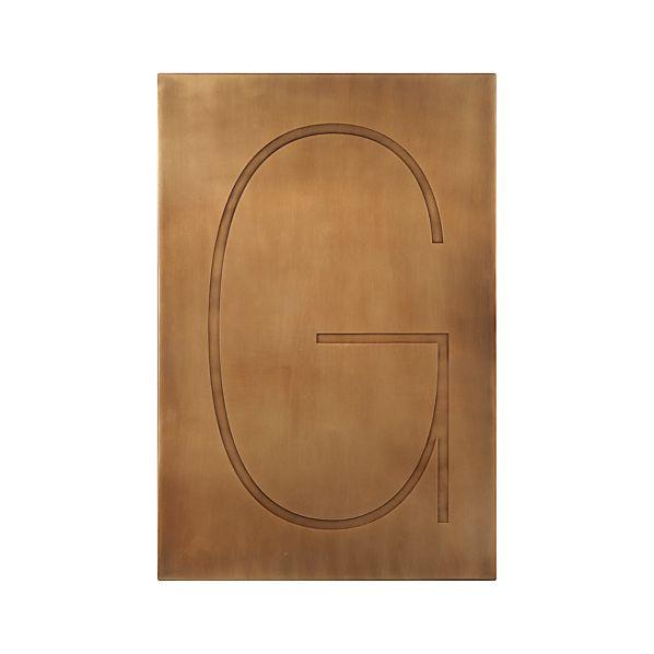 Brass Letter G Wall Art