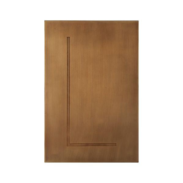 Brass Letter L Wall Art