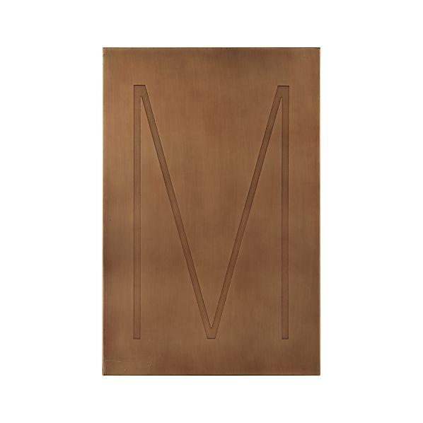 Brass Letter M Wall Art