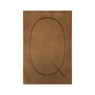 Brass Letter Q Wall Art