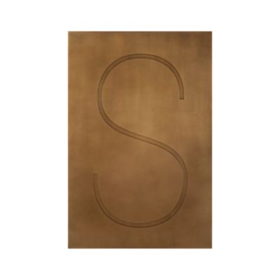 Brass Letter S Wall Art