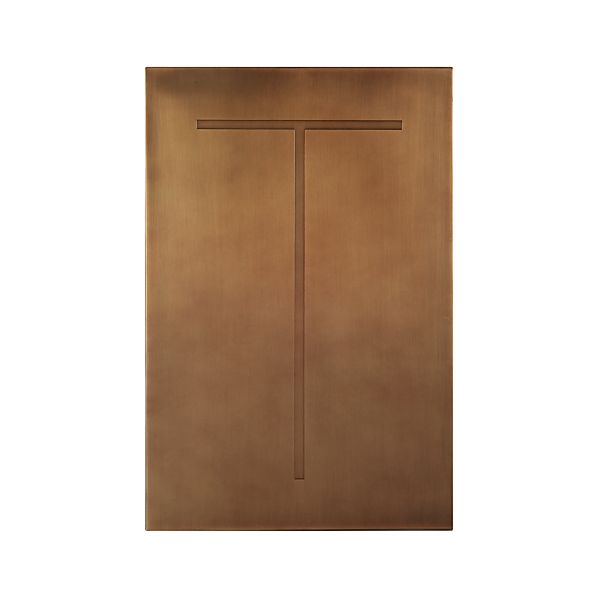 Brass Letter T Wall Art
