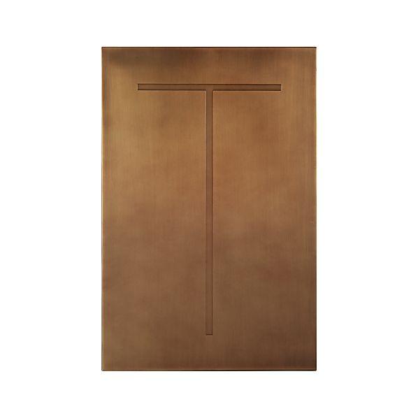 Brass Letter T Wall Art