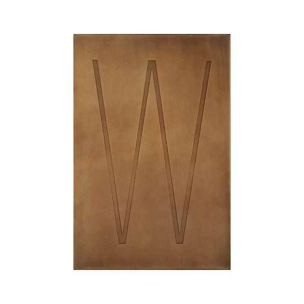Brass Letter W Wall Art