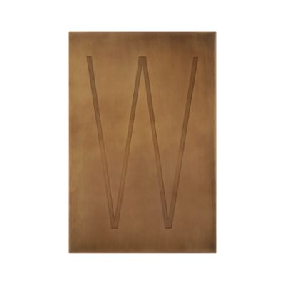 Brass Letter W Wall Art