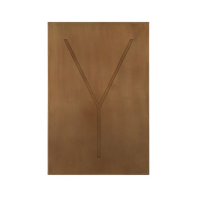 Brass Letter Y Wall Art