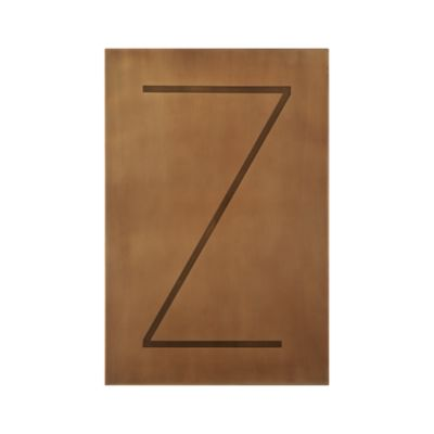 Brass Letter Z Wall Art