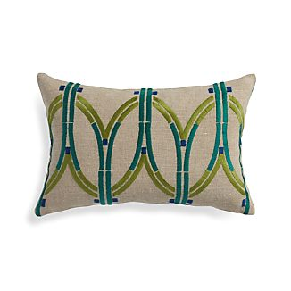 "Lexi 20""x13"" Pillow with Feather-Down Insert"