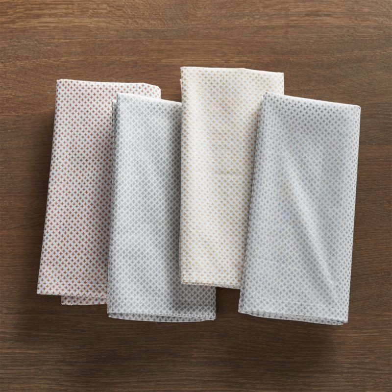 Lexie Metallic Cloth Dinner Napkins Set of Four