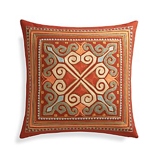 "Lhasa 20"" Pillow with Feather-Down Insert"