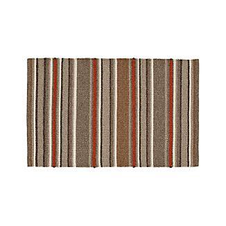 """Lia Stripe Wool-Blend 30""""x50"""" Rug"""