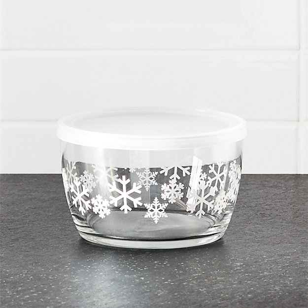 Lidded Bowl with Snowflakes