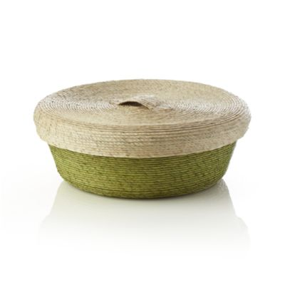 Lidded Green Small Basket