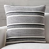 """Lidia 23"""" Striped Pillow with Feather-Down Insert"""