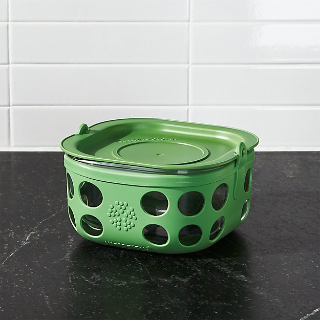 Lifefactory 4-Cup Grass Green Storage Container